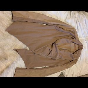 Tan half leather cardigan
